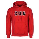 Red Fleece Hoodie-CSUN