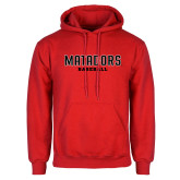 Red Fleece Hoodie-Matadors Baseball