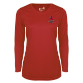 Ladies Syntrel Performance Red Longsleeve Shirt-CSUN Matador