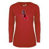 Ladies Syntrel Performance Red Longsleeve Shirt-California Matador