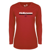 Ladies Syntrel Performance Red Longsleeve Shirt-#GoMatadors
