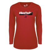 Ladies Syntrel Performance Red Longsleeve Shirt-#RockTheRed