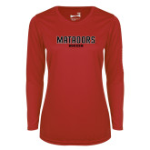 Ladies Syntrel Performance Red Longsleeve Shirt-Matadors Soccer