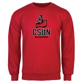 Red Fleece Crew-CSUN Matador