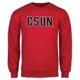 Red Fleece Crew-CSUN