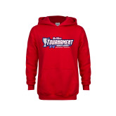 Youth Red Fleece Hoodie-Big West Champions 2017 Womens Soccer
