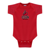 Red Infant Onesie-CSUN Matador