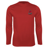 Performance Red Longsleeve Shirt-CSUN Matador