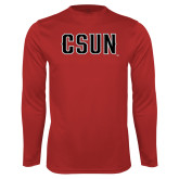 Performance Red Longsleeve Shirt-CSUN