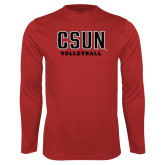 Performance Red Longsleeve Shirt-Volleyball