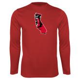 Performance Red Longsleeve Shirt-California Matador