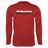 Performance Red Longsleeve Shirt-#GoMatadors