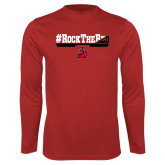 Performance Red Longsleeve Shirt-#RockTheRed
