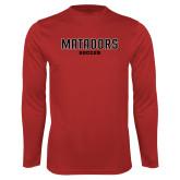 Performance Red Longsleeve Shirt-Matadors Soccer