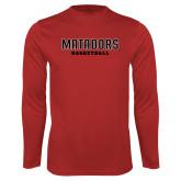 Performance Red Longsleeve Shirt-Matadors Basketball