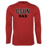 Performance Red Longsleeve Shirt-Dad