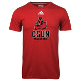 Adidas Climalite Red Ultimate Performance Tee-CSUN Matador