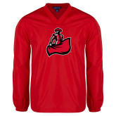 V Neck Red Raglan Windshirt-Matador