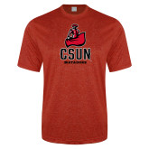 Performance Red Heather Contender Tee-CSUN Matador