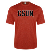 Performance Red Heather Contender Tee-CSUN