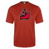 Performance Red Heather Contender Tee-Matador