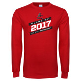 Red Long Sleeve T Shirt-Class Of - Slanted Banners, Personalized year