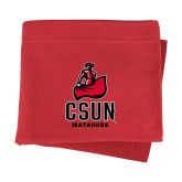 Red Sweatshirt Blanket-CSUN Matador