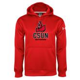 Under Armour Red Performance Sweats Team Hoodie-CSUN Matador