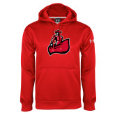 Under Armour Red Performance Sweats Team Hoodie-Matador