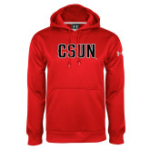 Under Armour Red Performance Sweats Team Hoodie-CSUN