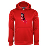 Under Armour Red Performance Sweats Team Hoodie-California Matador