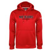 Under Armour Red Performance Sweats Team Hoodie-Matadors Softball
