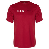 Performance Red Tee-Institutional Logo Flat