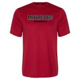 Performance Red Tee-Matadors Baseball