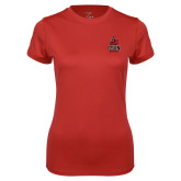 Ladies Syntrel Performance Red Tee-CSUN Matador