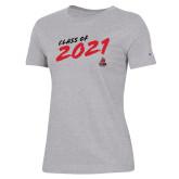 Ladies Champion Grey T Shirt-CSUN Class of 2021