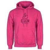 Fuchsia Fleece Hoodie-CSUN Matador Hot Pink Glitter
