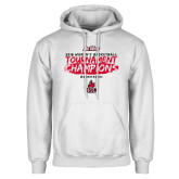 White Fleece Hoodie-2018 Womens Basketball Champions - Brush