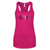 Next Level Ladies Raspberry Ideal Racerback Tank-CSUN Foil