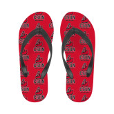 Ladies Full Color Flip Flops-CSUN Matador