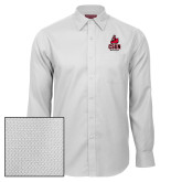 Red House White Diamond Dobby Long Sleeve Shirt-CSUN Matador