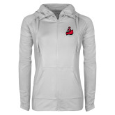 Ladies Sport Wick Stretch Full Zip White Jacket-Matador
