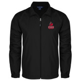 Full Zip Black Wind Jacket-CSUN Matador