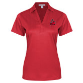 Ladies Red Performance Fine Jacquard Polo-Matador
