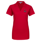 Ladies Red Dry Zone Grid Polo-CSUN Matador