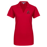 Ladies Red Dry Zone Grid Polo-Matador