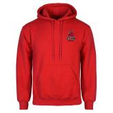 Red Fleece Hoodie-CSUN Matador