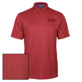 Red Performance Fine Jacquard Polo-CSUN