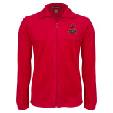 Fleece Full Zip Red Jacket-CSUN Matador