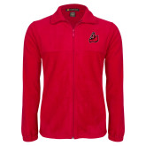 Fleece Full Zip Red Jacket-Matador